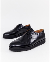 Chaussures derby en cuir noires House of Hounds