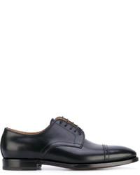 Chaussures derby en cuir noires Kiton