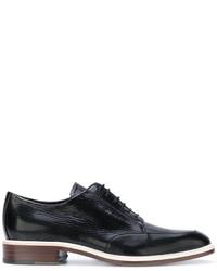 Chaussures derby en cuir noires Lanvin