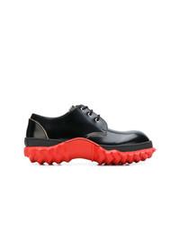 Chaussures derby en cuir noires Marni
