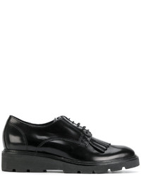 Chaussures derby en cuir noires P.A.R.O.S.H.