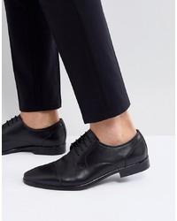Chaussures derby en cuir noires Pier One