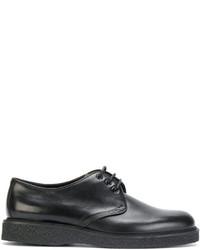 Chaussures derby en cuir noires Saint Laurent