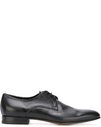 Chaussures derby en cuir noires Santoni