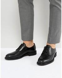 Chaussures derby en cuir noires Selected Homme
