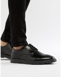 Chaussures derby en cuir noires Silver Street