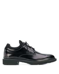 Chaussures derby en cuir noires Tod's