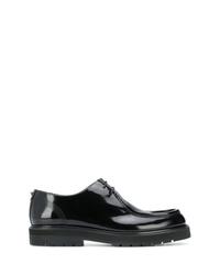 Chaussures derby en cuir noires Valentino
