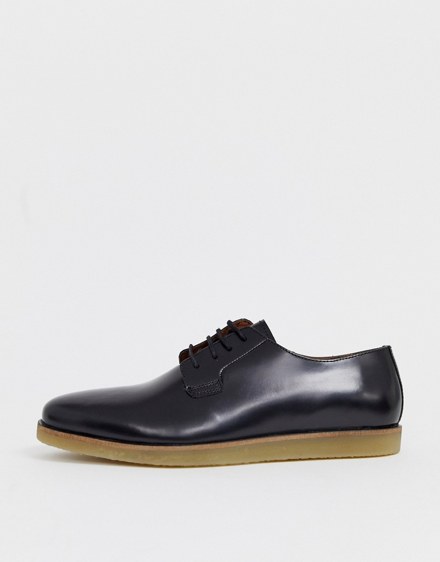 Chaussures derby en cuir noires Zign