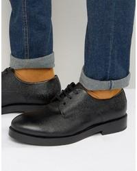 Chaussures derby en cuir noires Zign Shoes