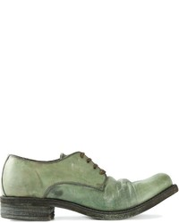 Chaussures derby en cuir olive A Diciannoveventitre