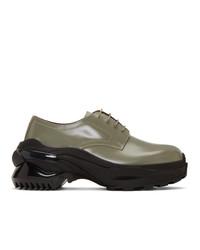 Chaussures derby en cuir olive Maison Margiela