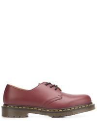 Chaussures derby en cuir rouges Dr. Martens