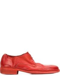 Chaussures derby en cuir rouges Guidi