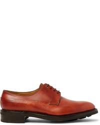 Chaussures derby en cuir rouges John Lobb