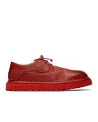 Chaussures derby en cuir rouges Marsèll