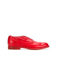 Chaussures derby en cuir rouges Officine Creative