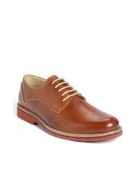 Chaussures derby en cuir tabac