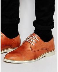 Chaussures derby en cuir tabac Jack and Jones