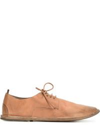 Chaussures derby en cuir tabac Marsèll
