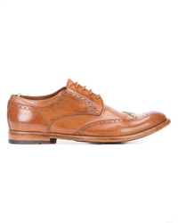 Chaussures derby en cuir tabac Officine Creative