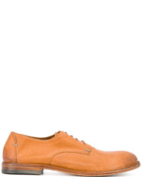 Chaussures derby en cuir tabac Pantanetti