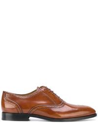 Chaussures derby en cuir tabac Paul Smith