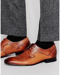 Chaussures derby en cuir tabac Ted Baker