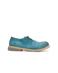 Chaussures derby en cuir turquoise