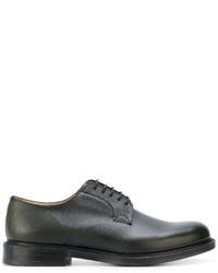 Chaussures derby en cuir vert foncé Church's