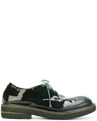Chaussures derby en cuir vert foncé Marsèll