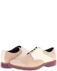 Chaussures derby en daim beiges