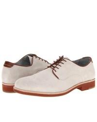 Chaussures derby en daim blanches