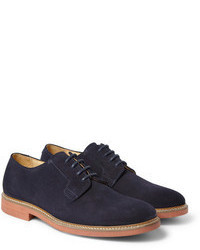 Chaussures derby en daim bleu marine A.P.C.