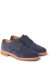 Chaussures derby en daim bleu marine J.Crew