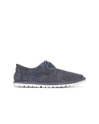 Chaussures derby en daim bleu marine Marsèll