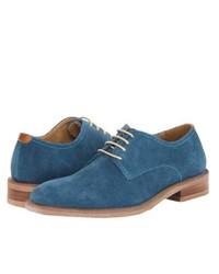 Chaussures derby en daim bleues