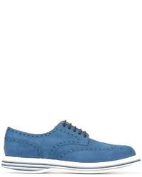 Chaussures derby en daim bleues Church's