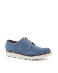 Chaussures derby en daim bleues Grenson