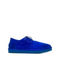 Chaussures derby en daim bleues Marsèll