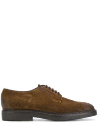 Chaussures derby en daim brunes Doucal's