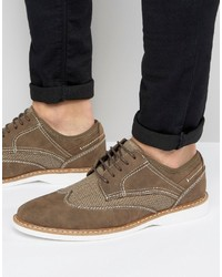 Chaussures derby en daim brunes Steve Madden