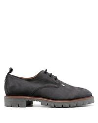 Chaussures derby en daim épaisses noires Off-White