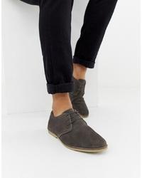 Chaussures derby en daim gris foncé ASOS DESIGN