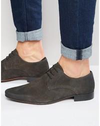 Chaussures derby en daim gris foncé Asos