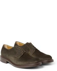 Chaussures derby en daim gris foncé