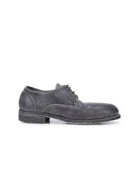 Chaussures derby en daim gris foncé Guidi