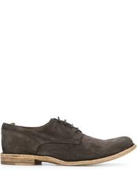 Chaussures derby en daim gris foncé Officine Creative
