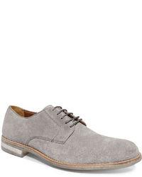 Chaussures derby en daim grises