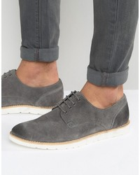 Chaussures derby en daim grises Frank Wright